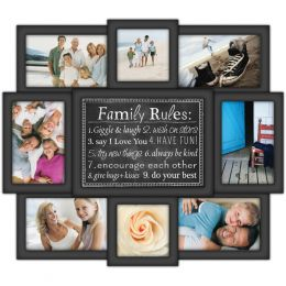 Malden Family Rules 8 Collage Picture Frame