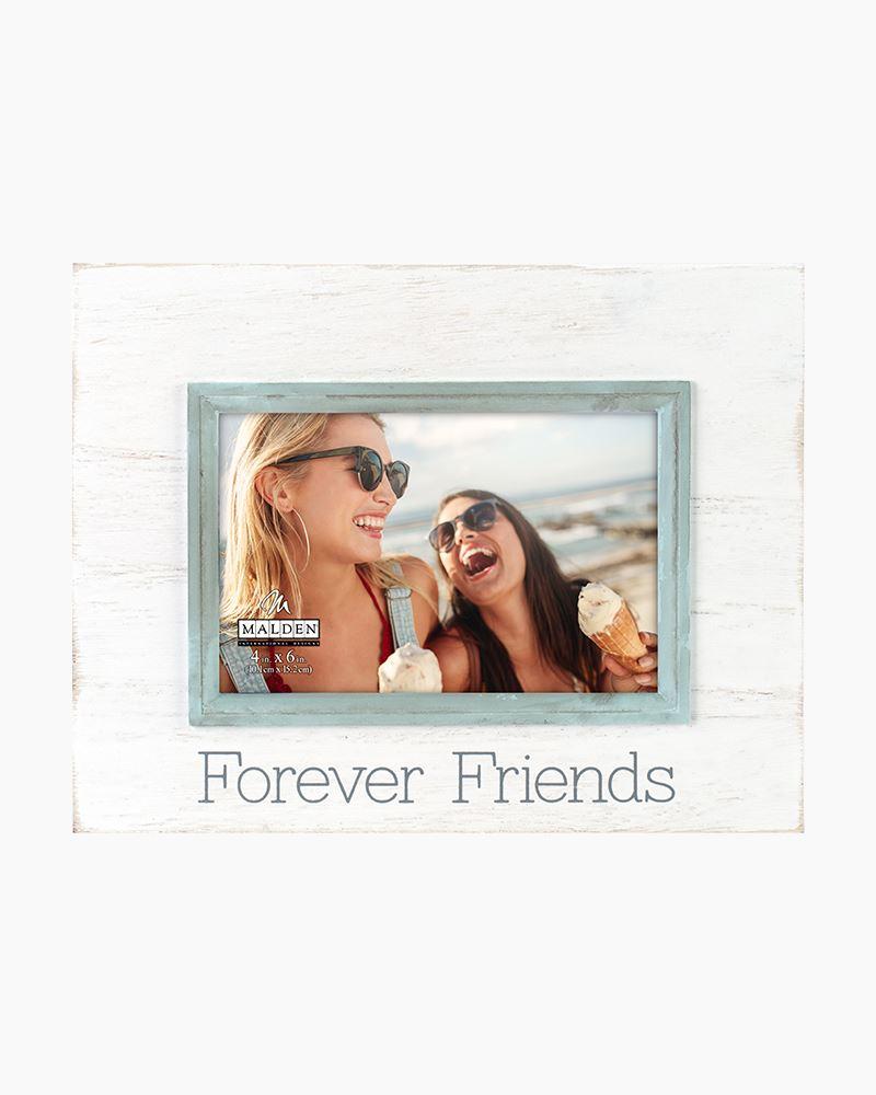 malden forever friends washed wood frame 4x6in