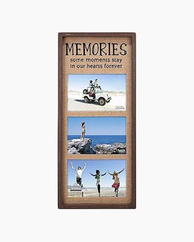 Memories Burlap Triple Opening Frame