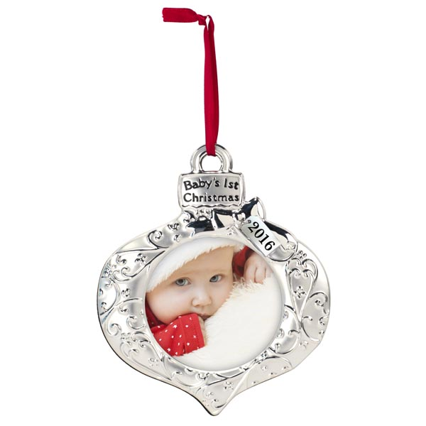 Malden Baby's First Christmas Picture Ornament