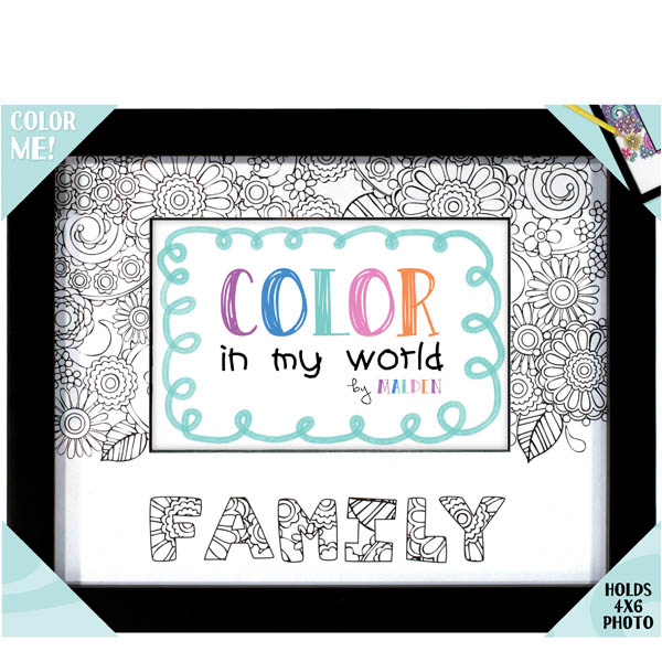 Malden Family Color in My World Photo Frame