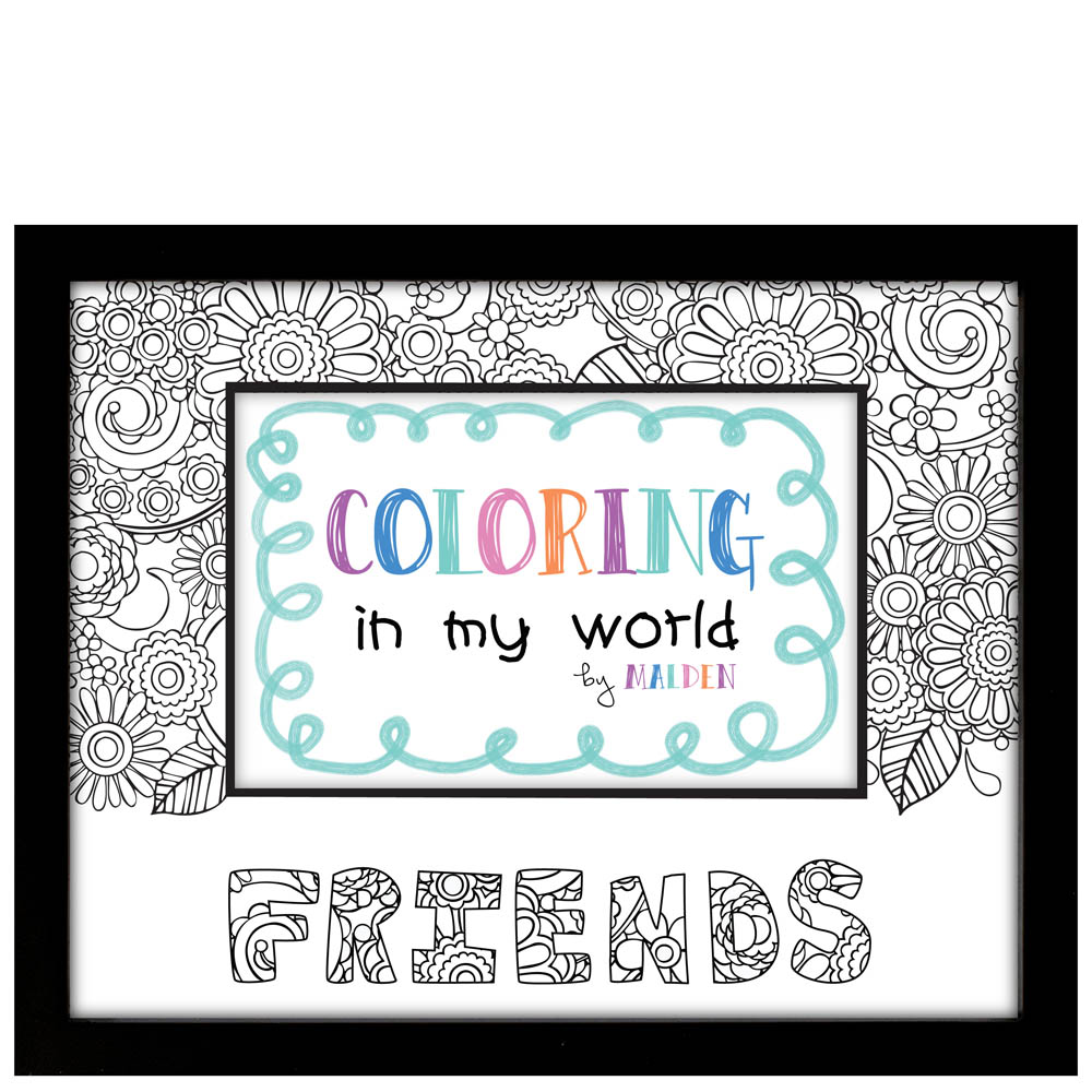 Malden Friends Color in My World Photo Frame
