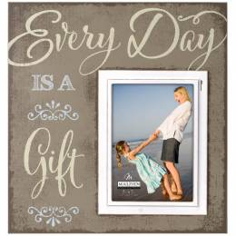 Malden Every Day is a Gift Sunwashed Wood Photo Frame