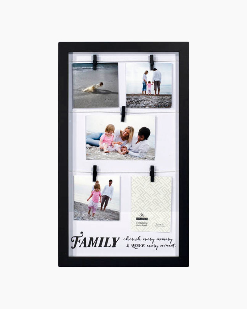 Malden Family Clothespin Collage Photo Frame