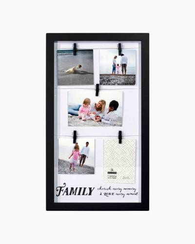 Family Clothespin Collage Photo Frame