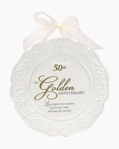 50th Anniversary Keepsake Plate