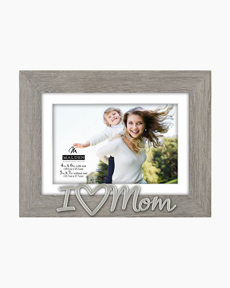 Malden I Heart Mom Expressions Picture Frame