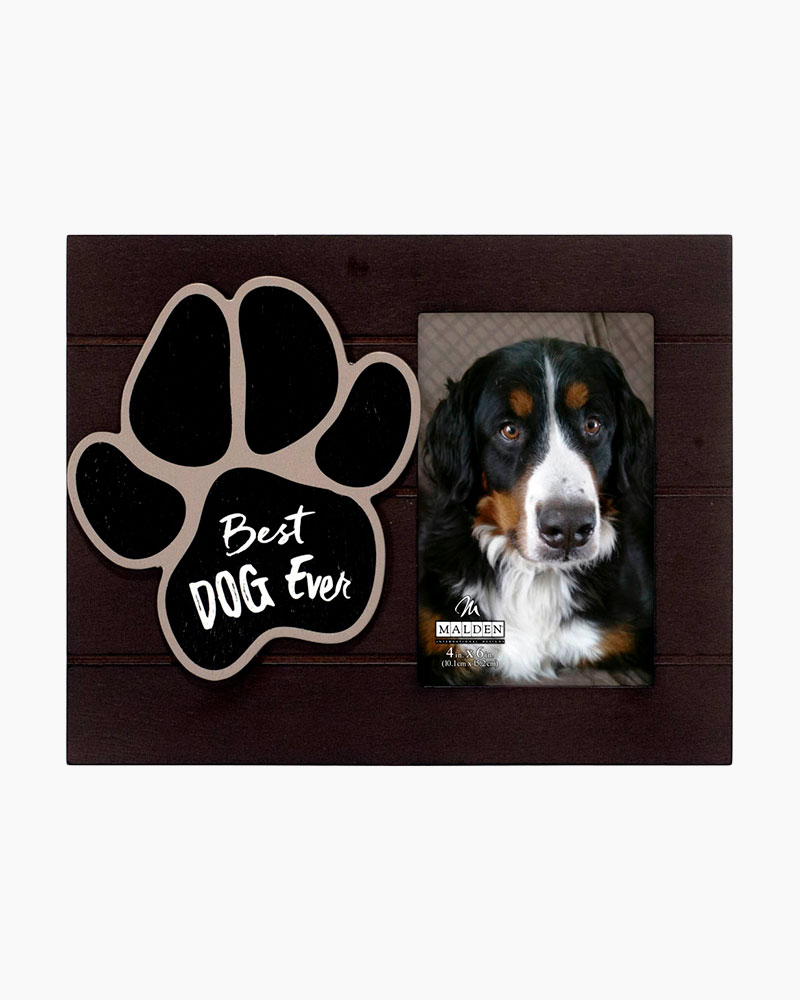 Malden Best Dog Ever Paw Print Expressions Picture Frame