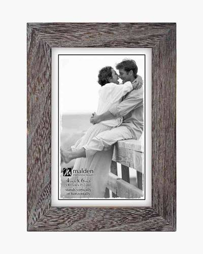 Linear Rustic Wood Picture Frame in Rough Gray