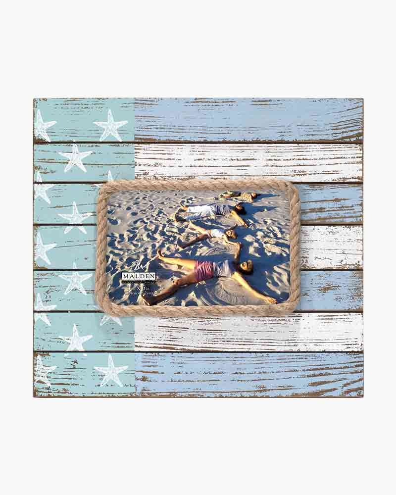 Malden Stars and Stripes Coastal Flag Picture Frame