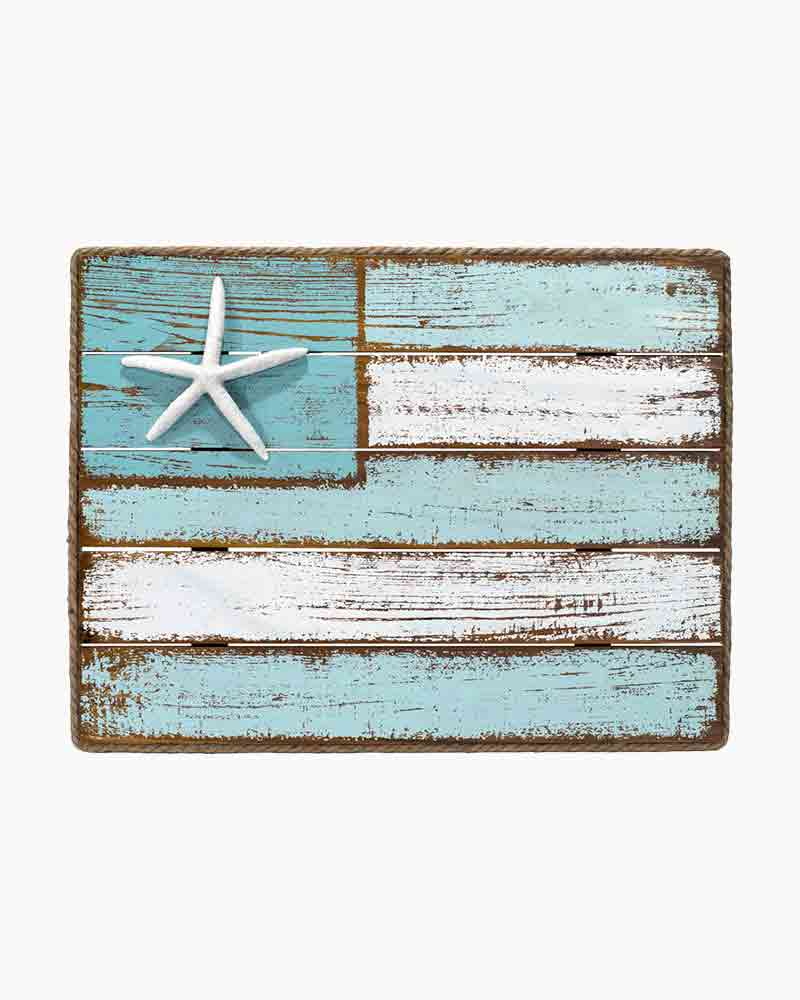 Malden Coastal Flag Wooden Sign