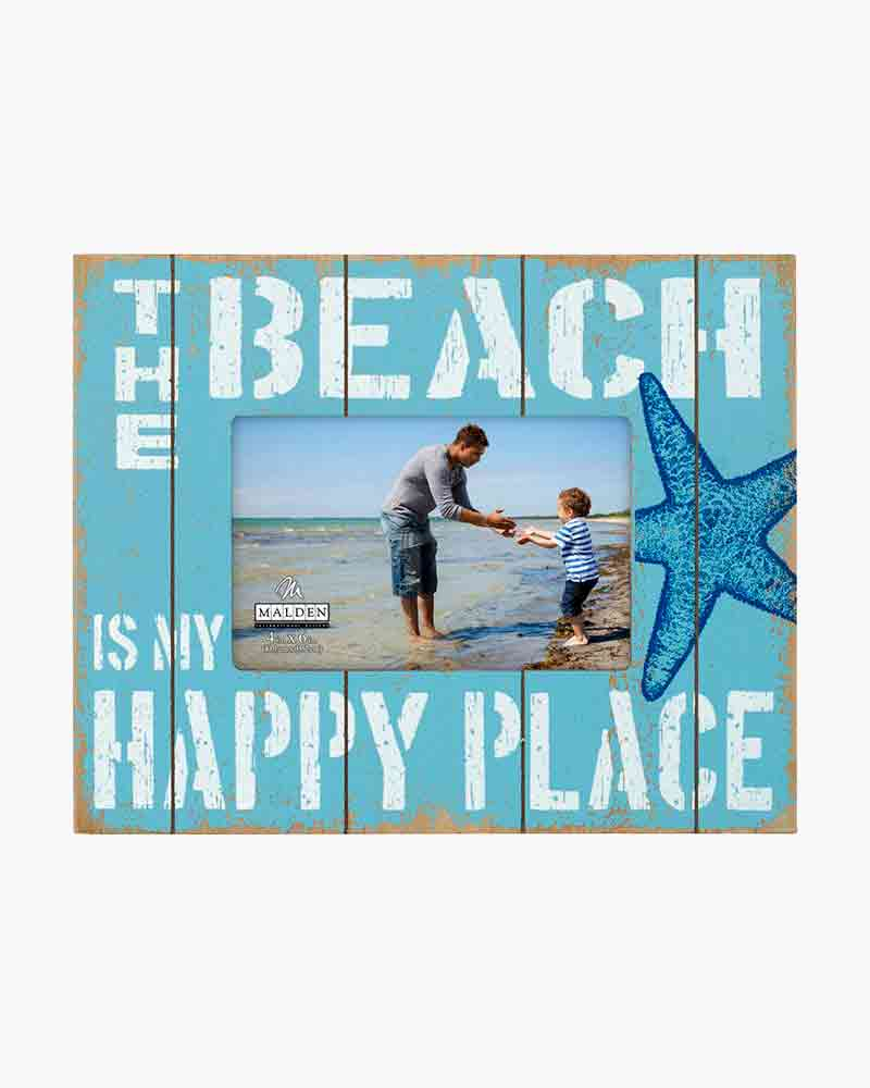 Malden Beach Happy Place Picture Frame