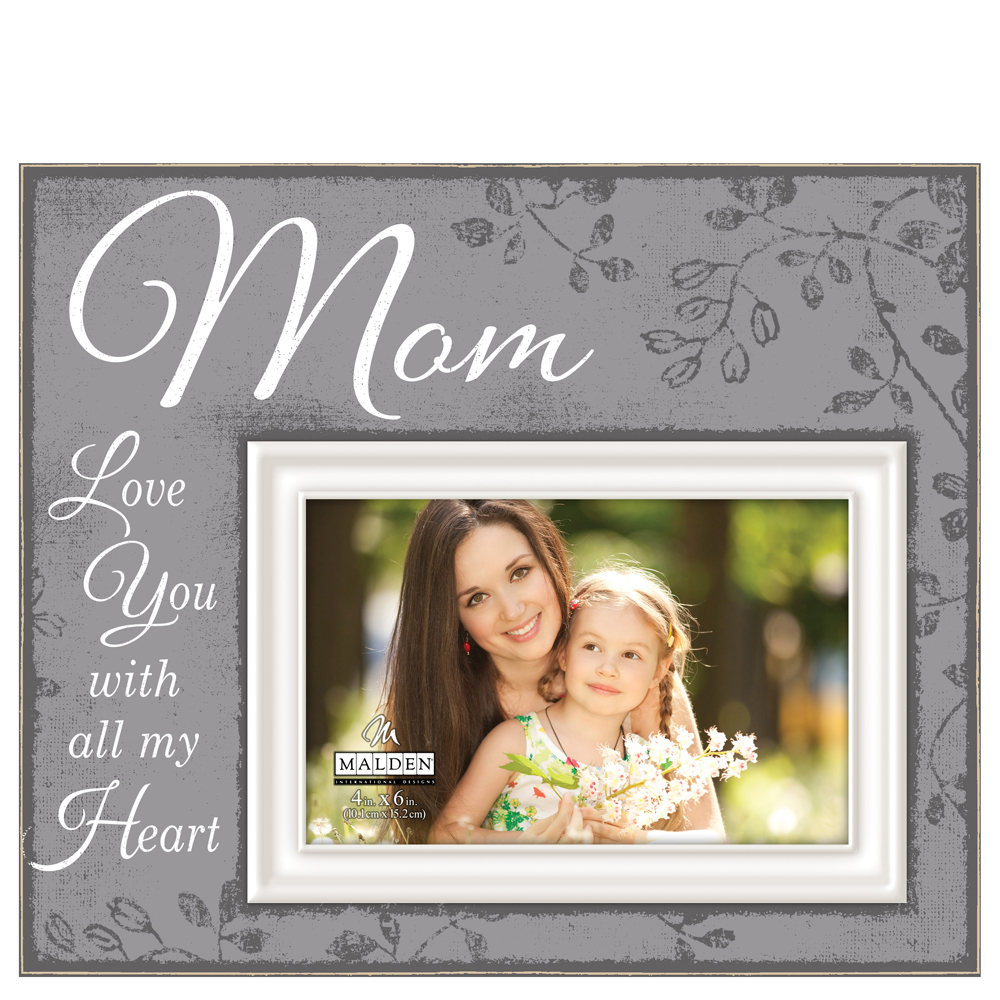 Malden Mom Script Sentiment Picture Frame (4x6)