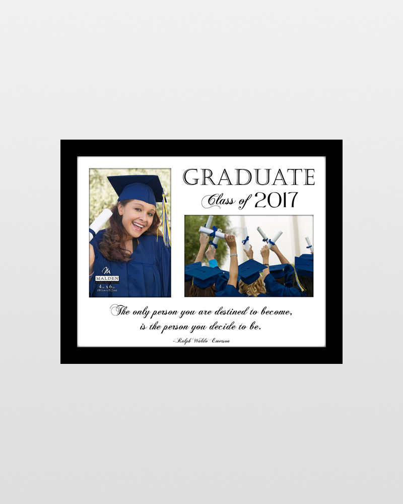 Malden Graduate of 2017 Two-Opening Picture Frame (4x6)