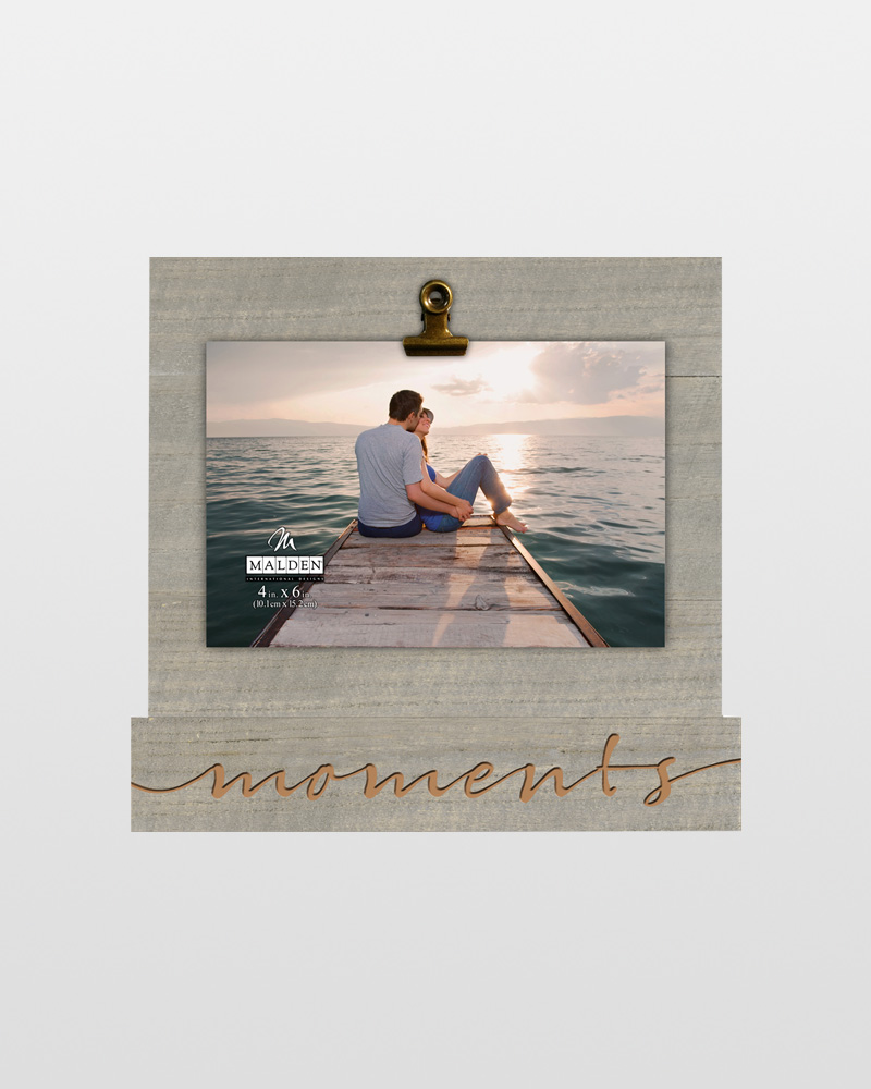 Malden Moments Wooden Clip Frame (4x6) | The Paper Store