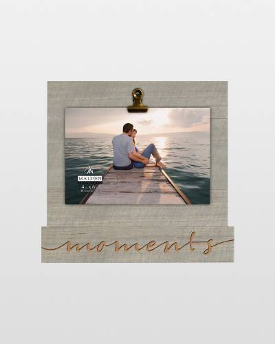 Moments Wooden Clip Frame (4x6)