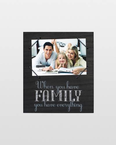 When You Have Family Wooden Cord Frame (4x6)