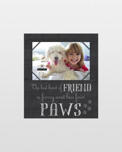 The Best Kind of Friend Pet Wooden Cord Frame (4x6)