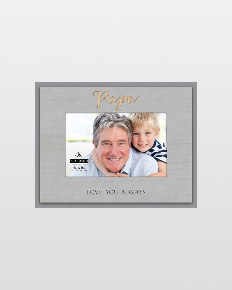 Malden Papa Love You Always Laser-Etched Frame (4x6) | The Paper Store