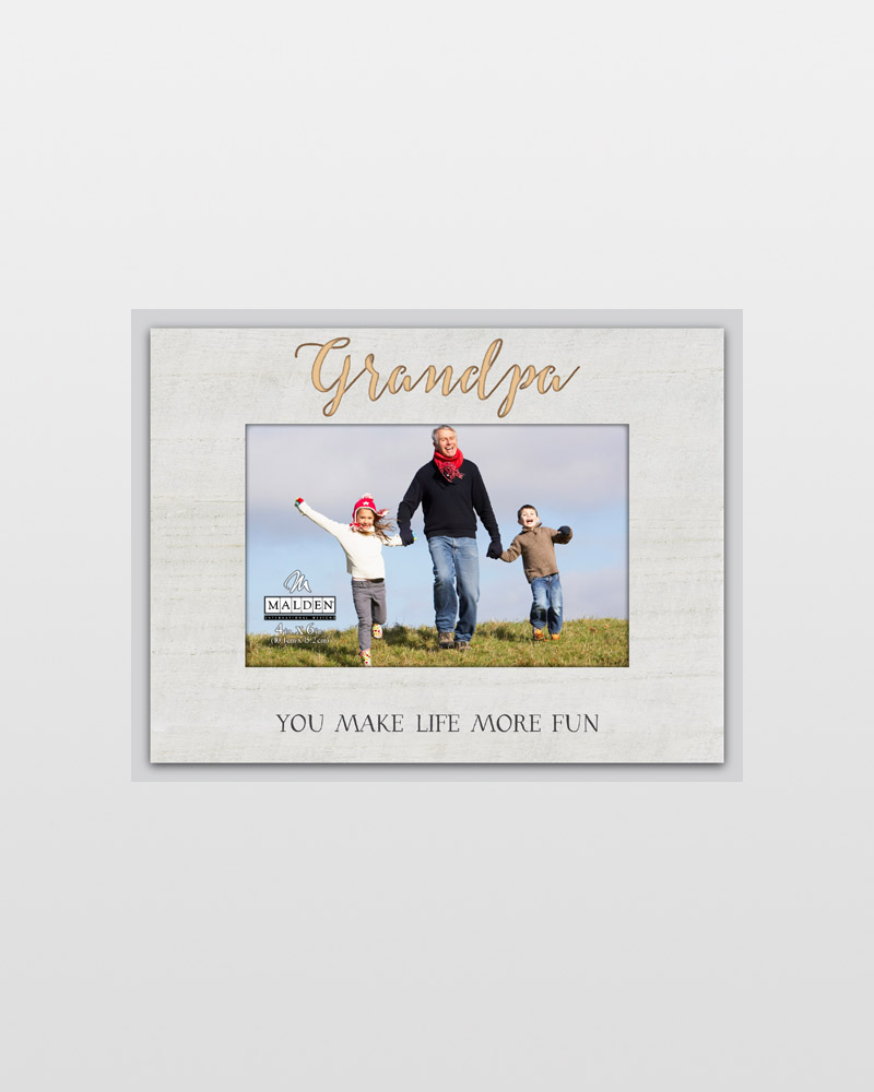 Malden Grandpa You Make Life More Fun Laser-Etched Frame (4x6) | The ...