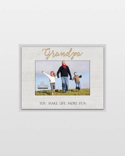 Grandpa You Make Life More Fun Laser-Etched Frame (4x6)
