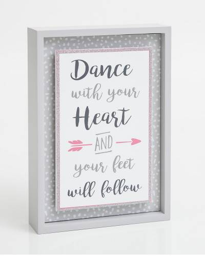 Dance with Your Heart Wooden Sign