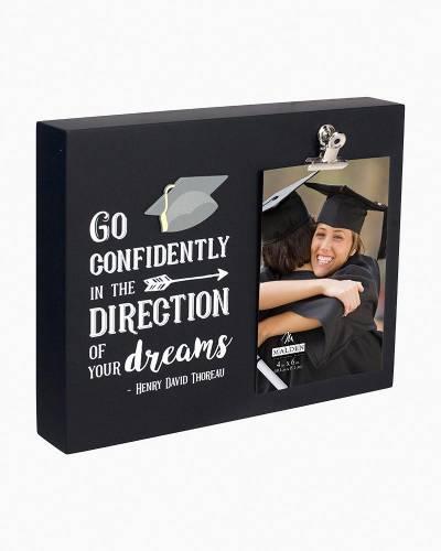 Go Confidently Graduation Clip Frame (4x6)