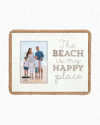 The Beach Is My Happy Place Rope Detail Frame (4x6)