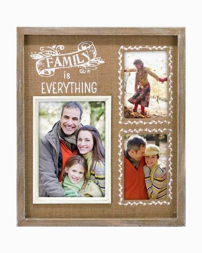 Family is Everything Burlap Multi-Opening Frame