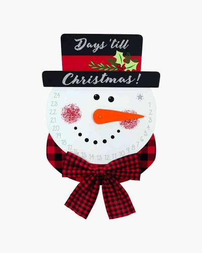 Snowman Countdown to Christmas Wall Decoration