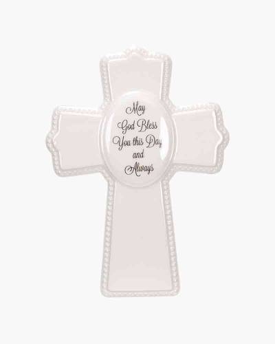 God Bless Ceramic Cross