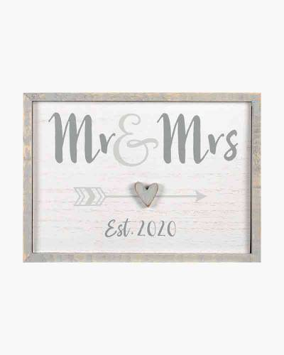Mr. and Mrs. Est. 2020 Box Sign (5x7)