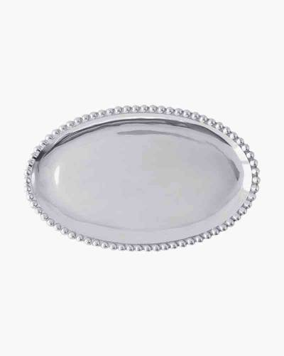 Pearled Small Oval Platter