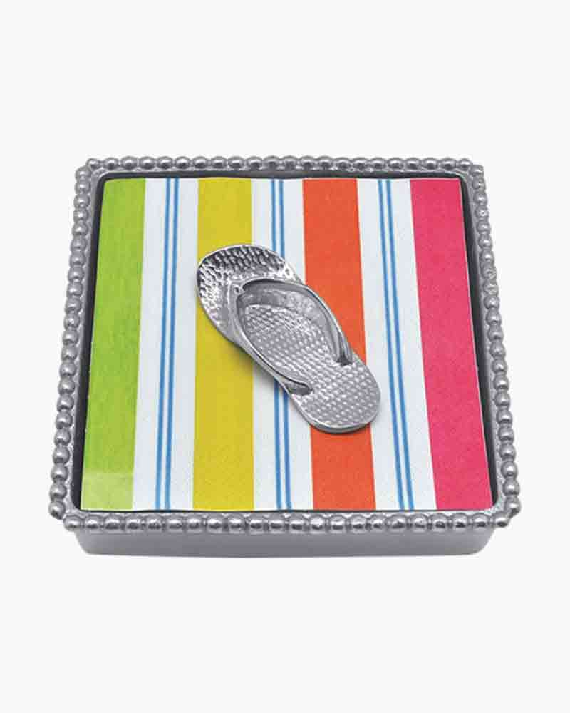 Mariposa Cocktail Napkin Box and Flip Flop Weight