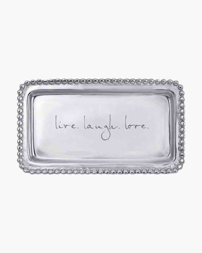 live. laugh. love. Statement Tray