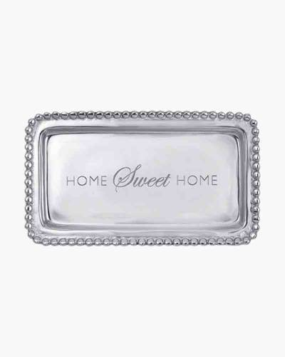Home Sweet Home Beaded Tray