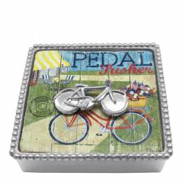 Mariposa Bicycle Napkin Box