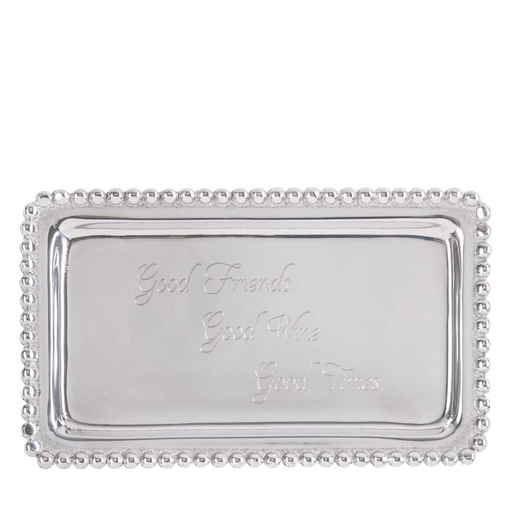 Mariposa Exclusive Good Friends, Good Wine, Good Times Sentiment Tray