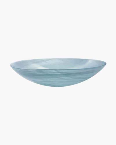Aqua Alabaster Salad Bowl