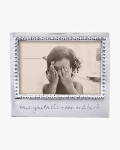 To The Moon And Back Beaded Picture Frame (4x6)
