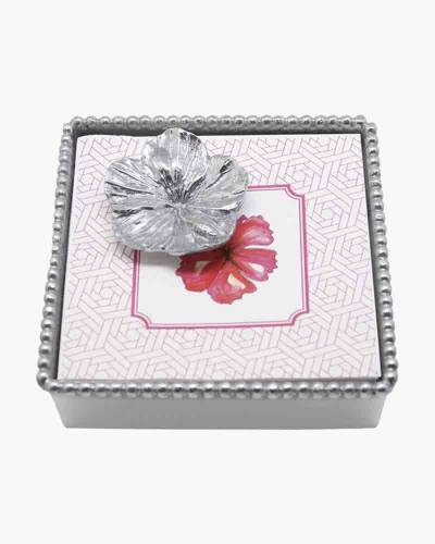 Mariposa Hibiscus Beaded Napkin Box