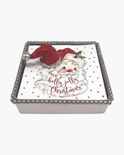 Red Santa Hat Beaded Napkin Box