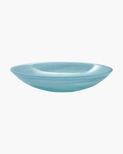 Aqua Alabaster Serving Bowl