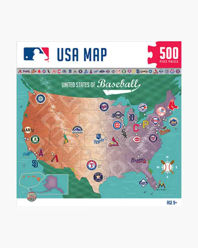 Masterpieces Puzzle Company MLB USA Map Jigsaw Puzzle Pc - Us map jigsaw puzzle