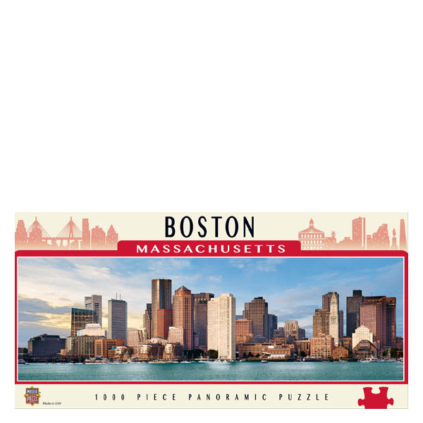 Masterpieces Puzzle Company Boston Massachusetts Panoramic Jigsaw Puzzle (1,000 pc)