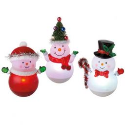 Midwest CBK Roly Poly Snowman LED Ornament (Assorted)