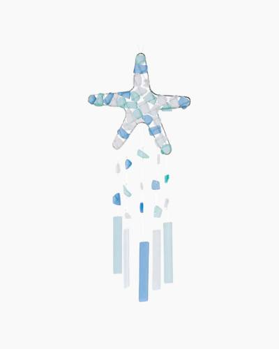Starfish Sea Glass Wind Chime