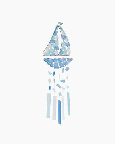 Sailboat Sea Glass Wind Chime