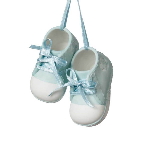 Midwest CBK Baby Boy Shoes Ornament (Set of 2)