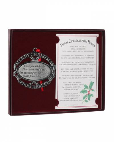 Merry Christmas from Heaven Pewter Finish Ornament